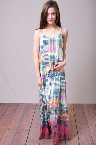 Mystree Pop of Color Maxi