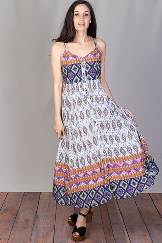 Mystree Tribal Print Maxi