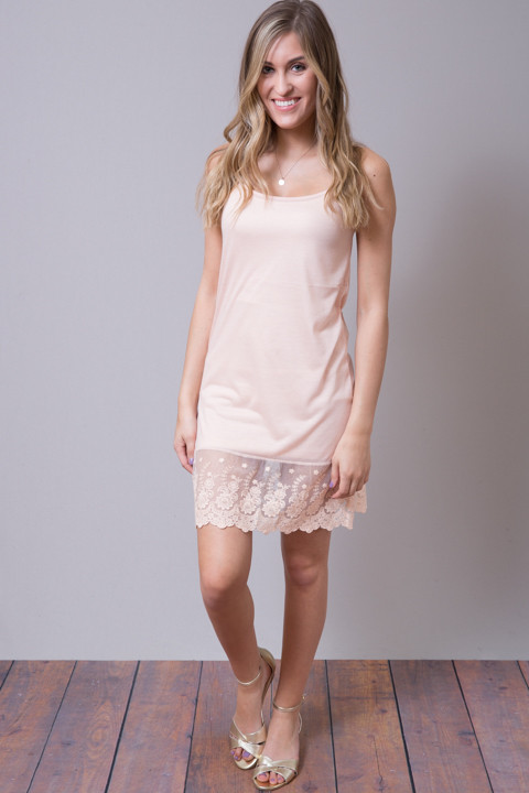 Scalloped Dress Slip Blush