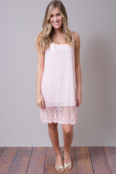 Scalloped Dress Slip Pink