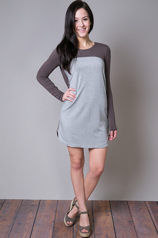 Heather by Bordeaux Long Sleeve CB Shift Dress