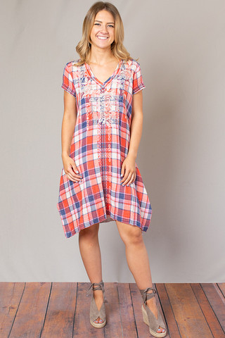 Johnny Was Collection Surya Drape Tunic Dress