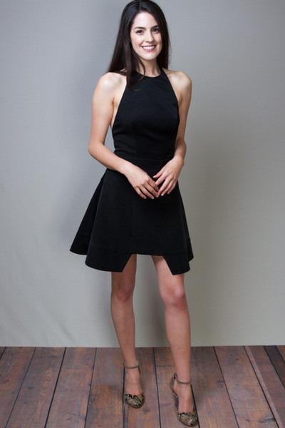 Long Beach Flare Dress Little Black Dress Stylestalker