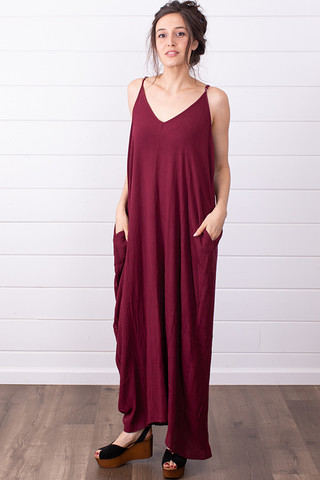 Lovestitch Cocoon Dress Merlot