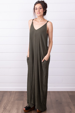 Lovestitch Cocoon Dress Olive