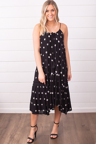 Wishlist Apparel Polka Dot Sequin Dress