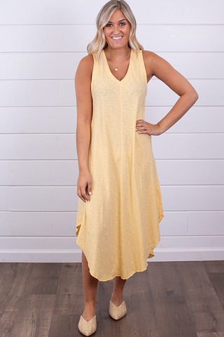 Z Supply The Reverie Dress Yellow Cream