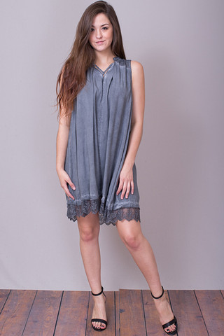 Umgee Washed Sleeveless Dress