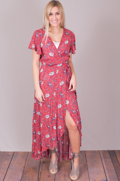 Auguste The Label Valentina Fiesta Wrap Maxi Dress