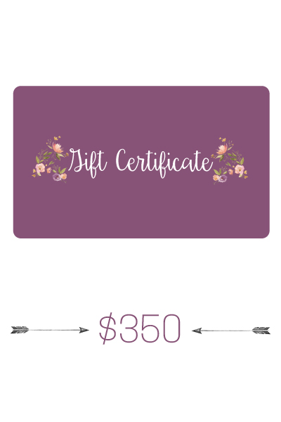 $350 Gift Certificate