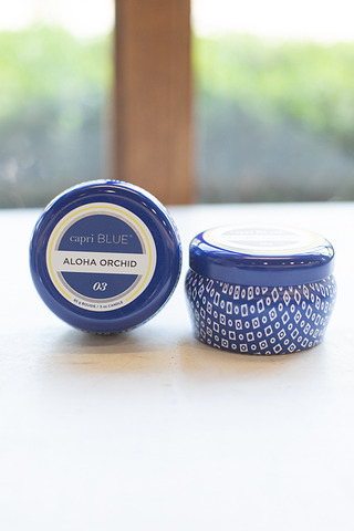 Capri Blue Mini Tin Aloha Orchid