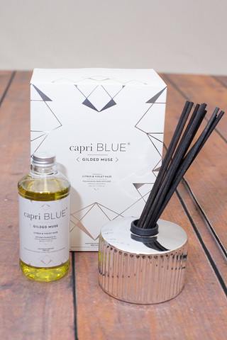 Capri Blue Citrus and Violet Haze Gilded Diffuser