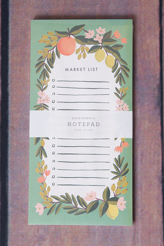 Rifle Paper Co. Citrus Floral Market List