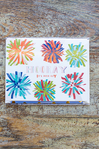 Hooray Pom Pom Card