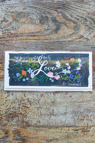 Love Florals Card