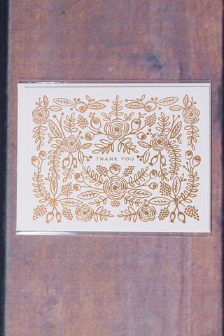 Rifle Paper Co. Rose Gold Thank You Card