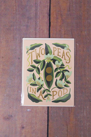 Rifle Paper Co. Two Peas Card