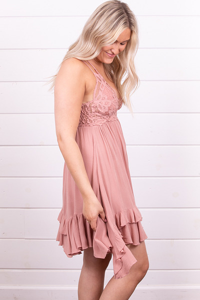 Free People Adella Slip Rose 3