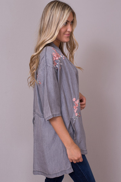 Billy T Embroidered Bed Jacket 2