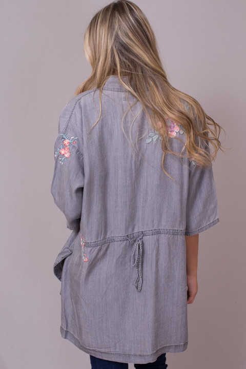 Billy T Embroidered Bed Jacket 4