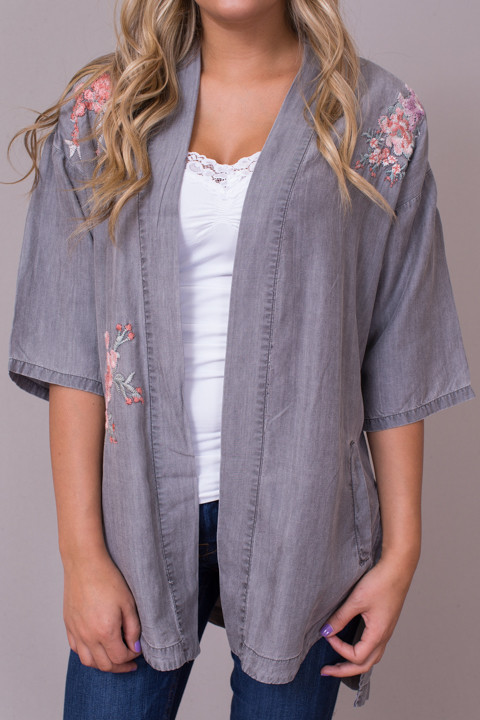 Billy T Embroidered Bed Jacket 3