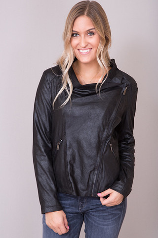Elan International Black Moto Jacket