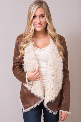Elan International Caramel Fur Jacket