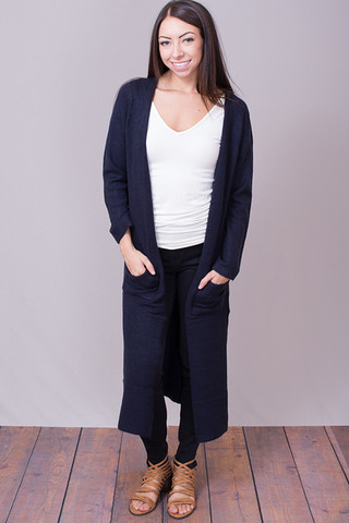 Knot Sisters Navy Sienna Sweater
