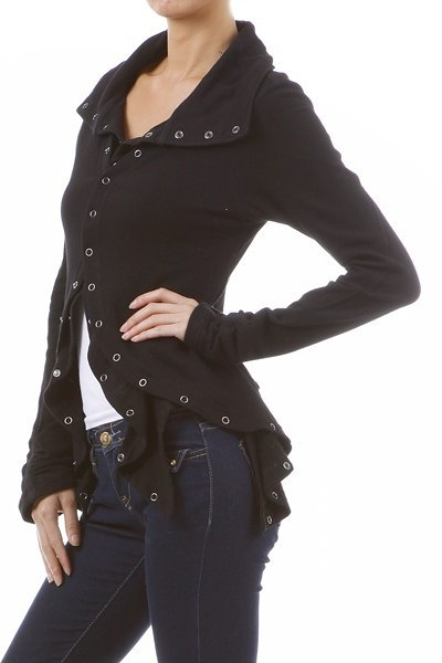 Mystree Layered Tack Button Jacket 3