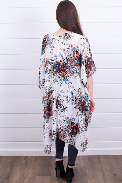 Lovestitch Ivory Floral Kaftan 2