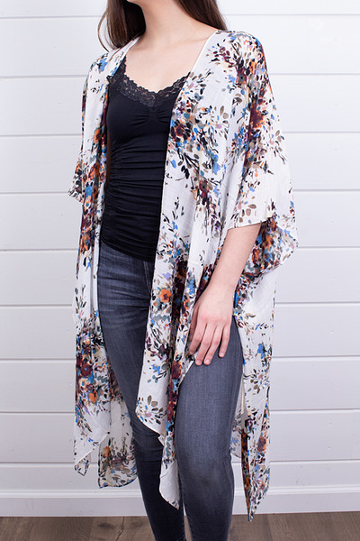 Lovestitch Ivory Floral Kaftan 3