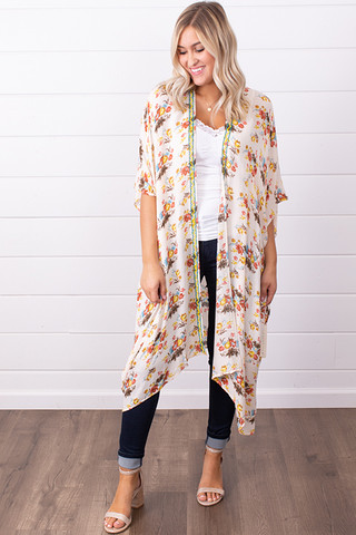 Lovestitch Beaded Floral Kaftan