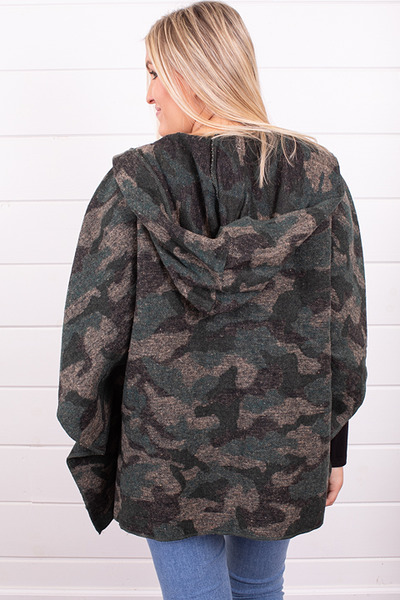 Mystree Hooded Camo Poncho 3