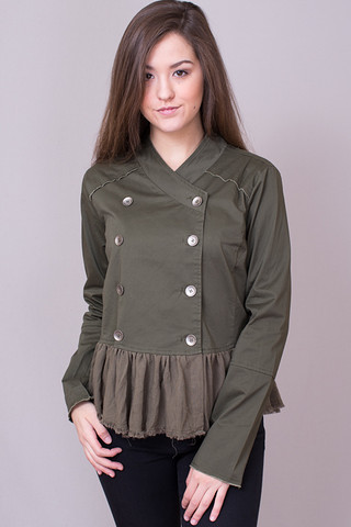 Ruffles and Pleats Jacket
