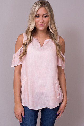 Billy T Cold Shoulder Button Back