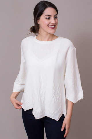JOA White Knit Top