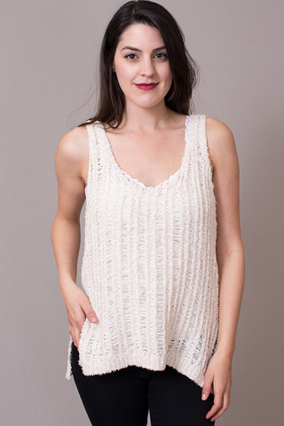 Mystree Loose Knit Tank