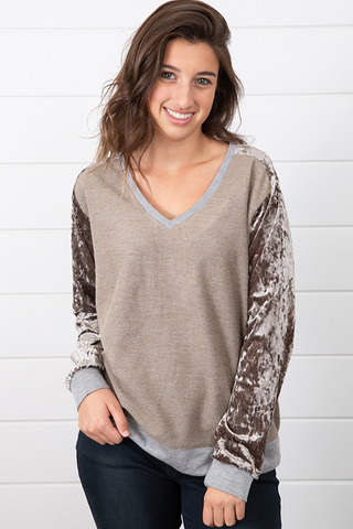 Velvet Mix Sweater