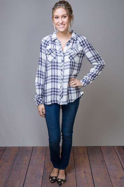 Rails Kendra White Button Down 5