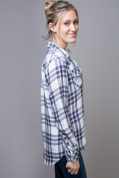 Rails Kendra White Button Down 4