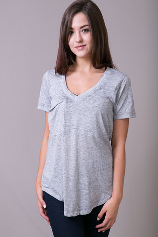 Z Supply The Pocket Tee Grey