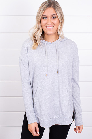 Z Supply The Dakota Pullover Heather Grey