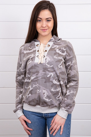Washed Camo Sweatshirt