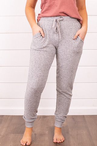 Z Supply Marled Jogger Heather Grey