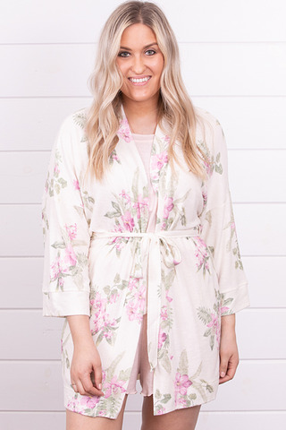 Z Supply Vacay Floral Robe