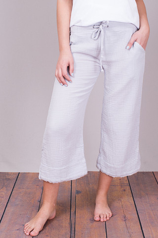 Bella Dahl Silver Cloud Wide Leg Crop Pant