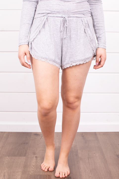 Z Supply Only Love Short Heather Grey