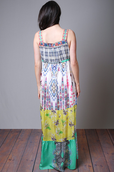 Johnny Was Collection Square Neck Maxi Dress 3