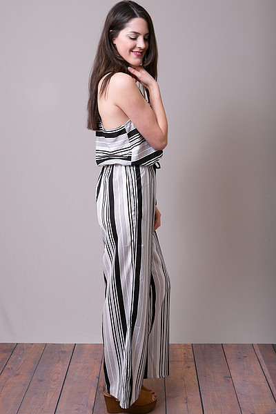 Mystree Stripe Romper 3