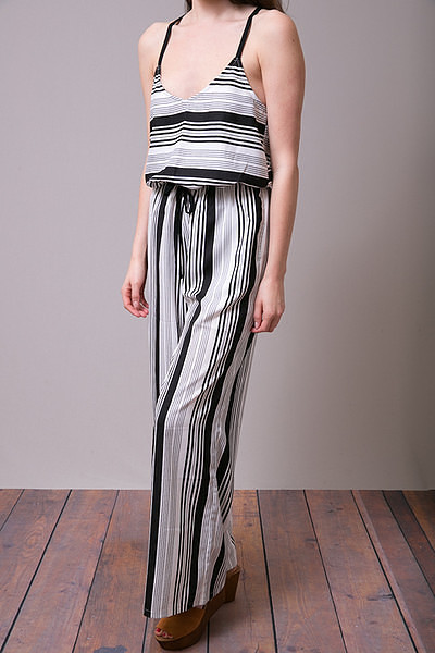Mystree Stripe Romper 2